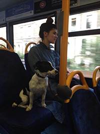 Zola on a bus